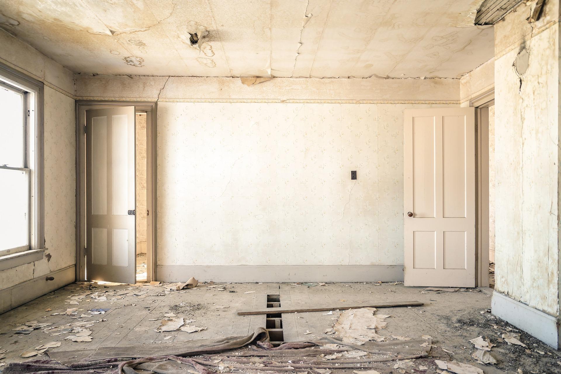 travaux de rénovation d'une vieille maison